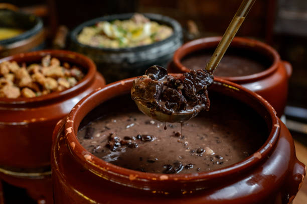 Delicious Brazilian feijoada stock photo