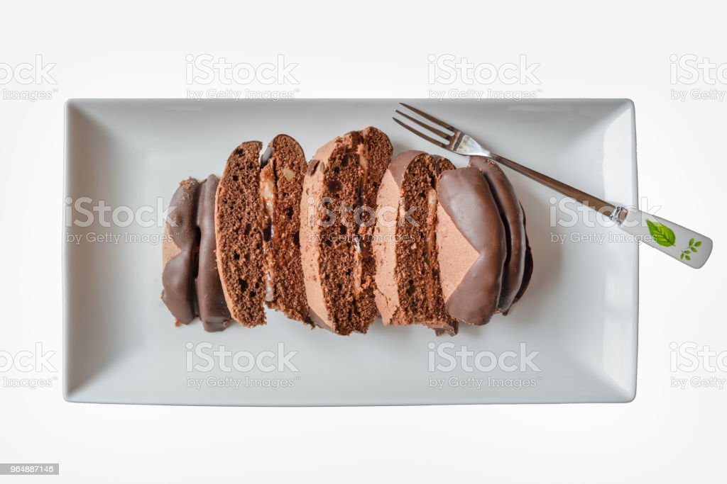Delicious bread on the plate royalty-free stock photo