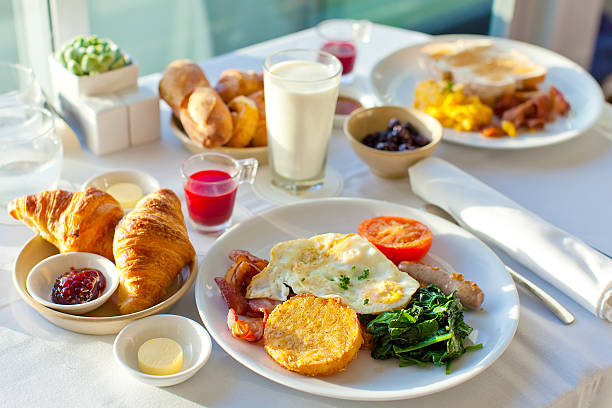 delicious breakfast - breakfast stock photos and pictures