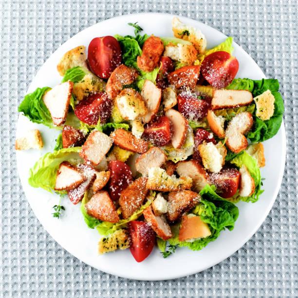 Delicious Caesar Salad stock photo