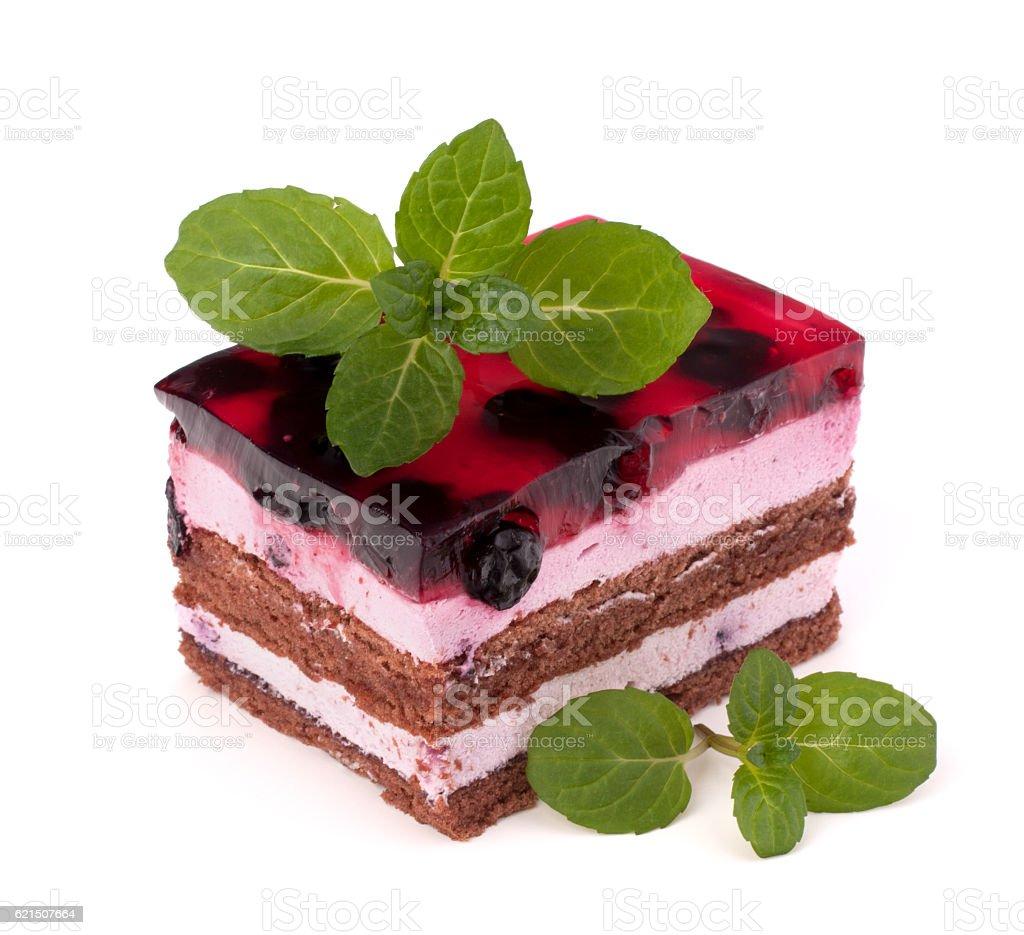 Délicieux gâteau pièce photo libre de droits