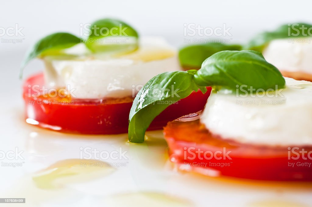 delicious caprese salad stock photo