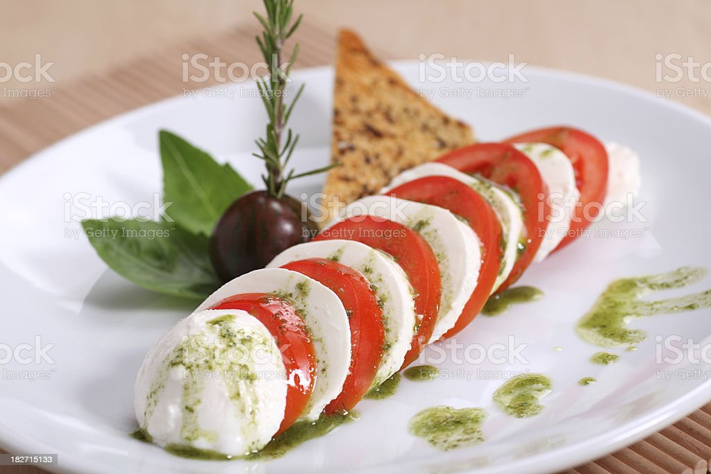 Delicious Caprese Salad royalty-free stock photo