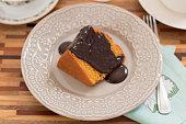 Chocolate cake food photography recipe idea