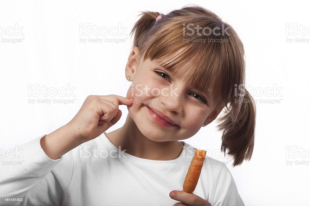 Delicious carrot royalty-free stock photo