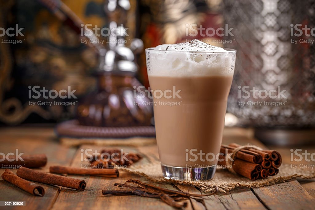 Delicious chai latte stock photo