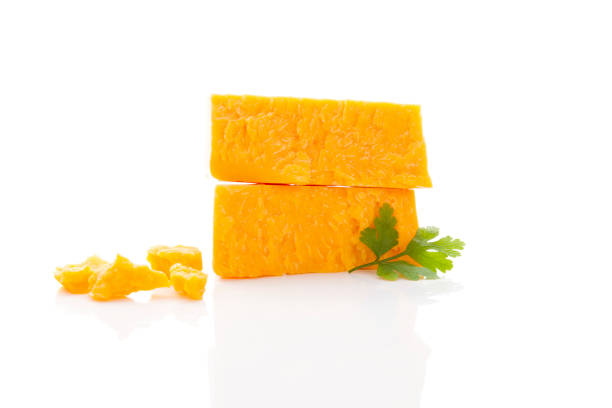 Delicious cheddar cheese. stock photo