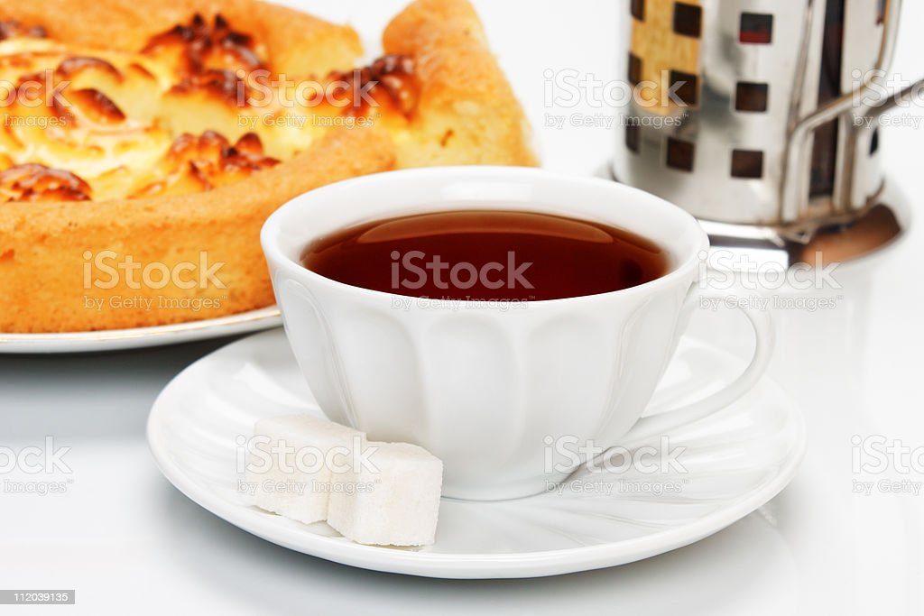 Delicious cheese pie stock photo