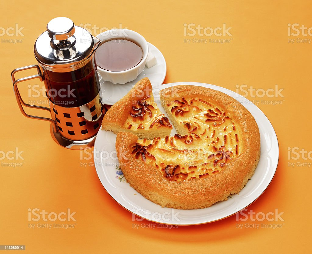 Delicious cheese pie royalty-free stock photo