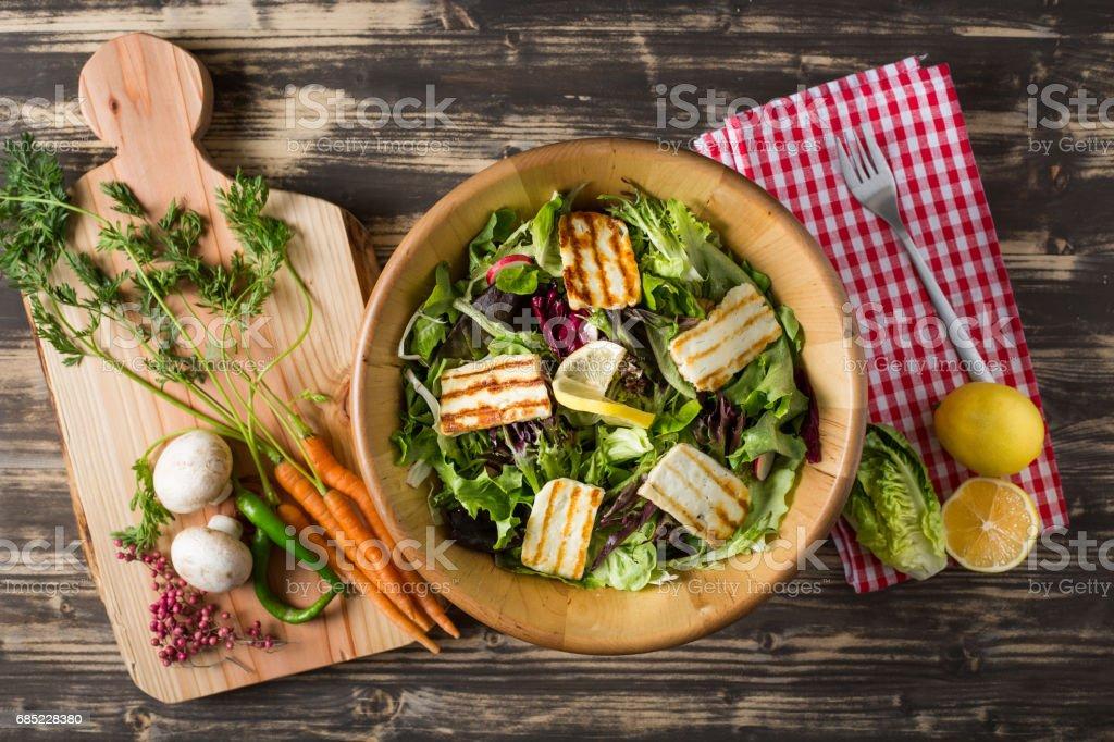 Delicious Cheese Salad stock photo