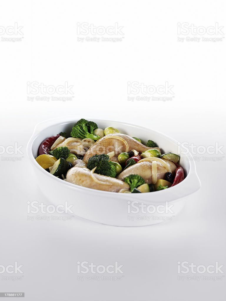 delicious chicken dish royalty-free stock photo