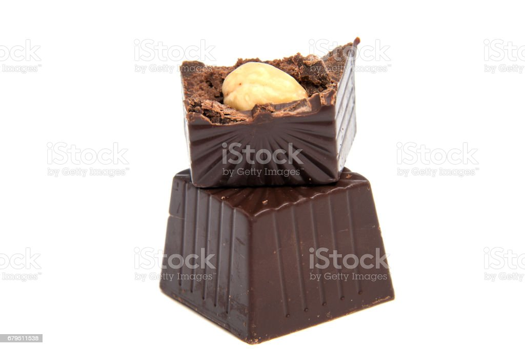 Delicious chocolate candy, isolated on white royalty-free stock photo