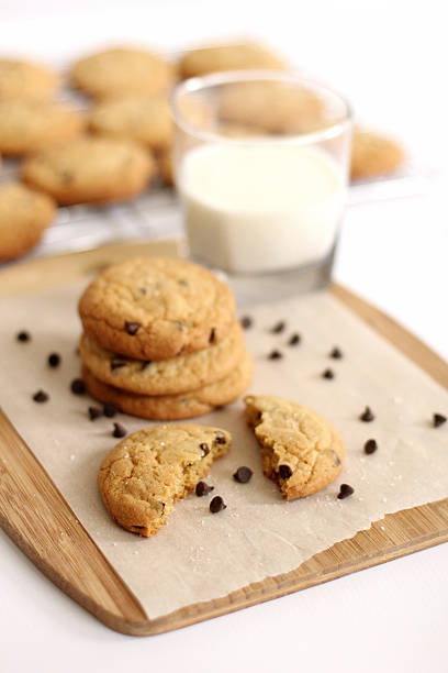 Delicious Chocolate Chip Cookies stock photo