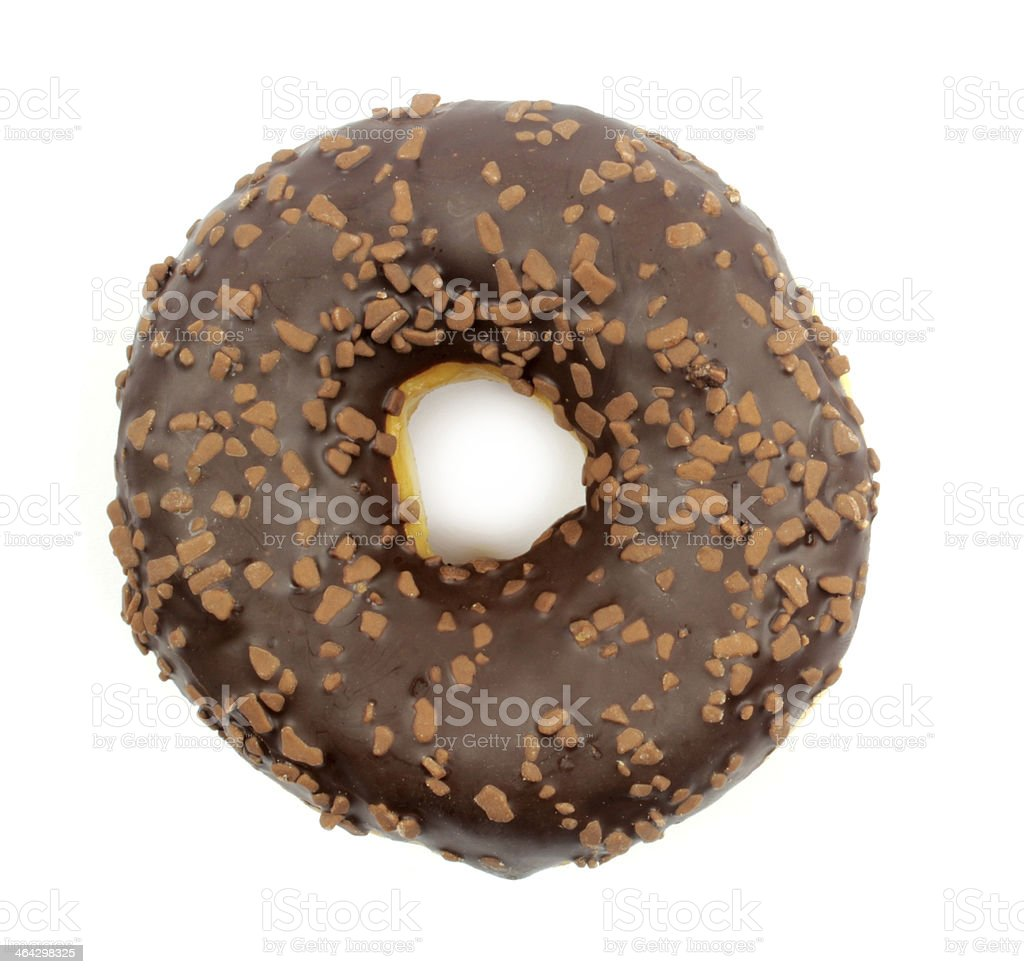 Delicious chocolate donut stock photo