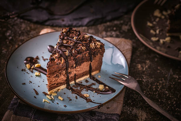 delicious chocolate layer cake - dessert stock pictures, royalty-free photos & images