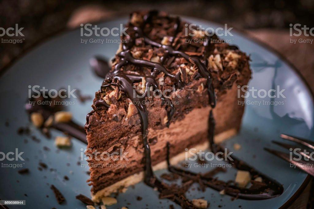 Delicioso bolo de Chocolate em camadas - foto de acervo