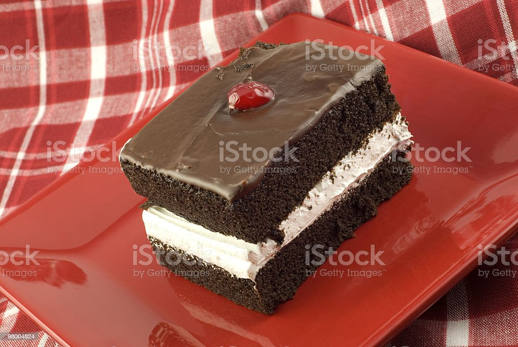 Delicious Chocolate Layer Cake royalty free stockfoto
