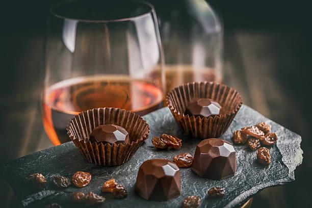 Delicious chocolate pralines stock photo