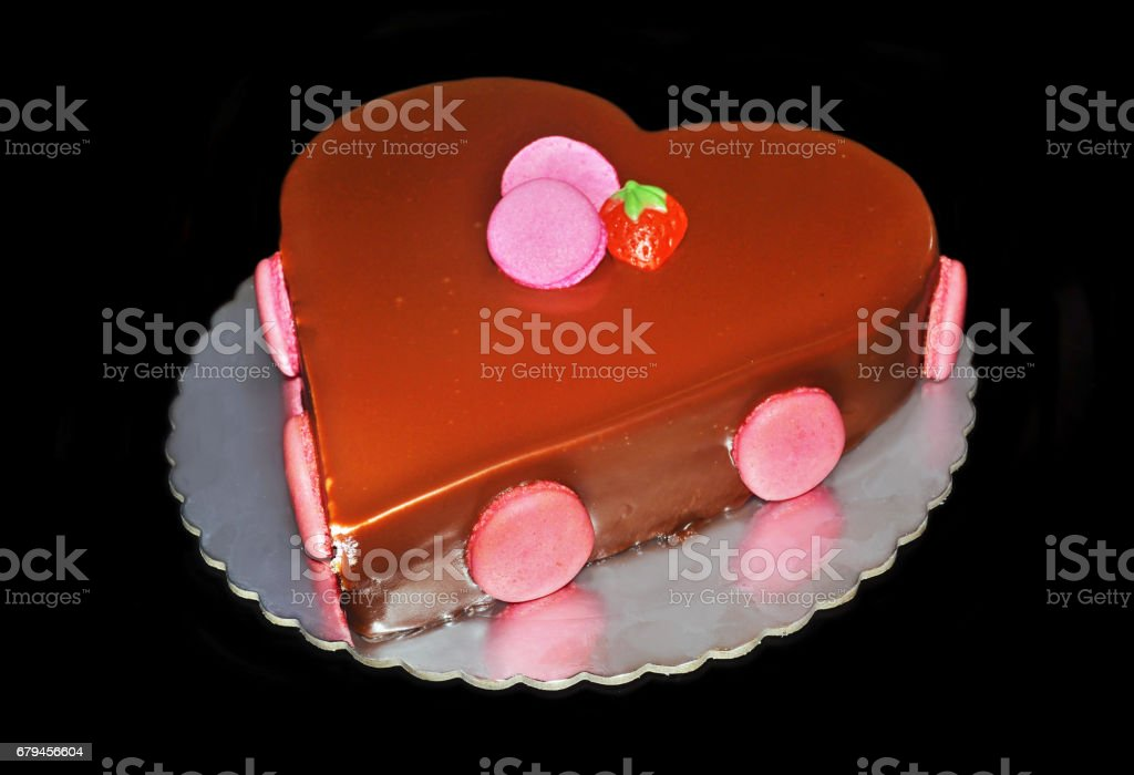 delicious chocolate strawberry cake royalty-free stock photo