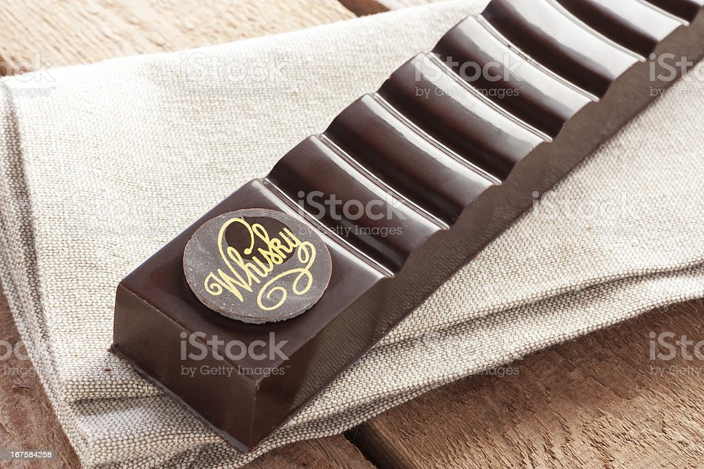 Delicious chocolate with whiskey royalty-free stock photo