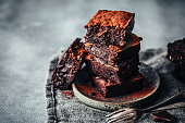 istock Delicious chocolate zucchini brownies 1255426185