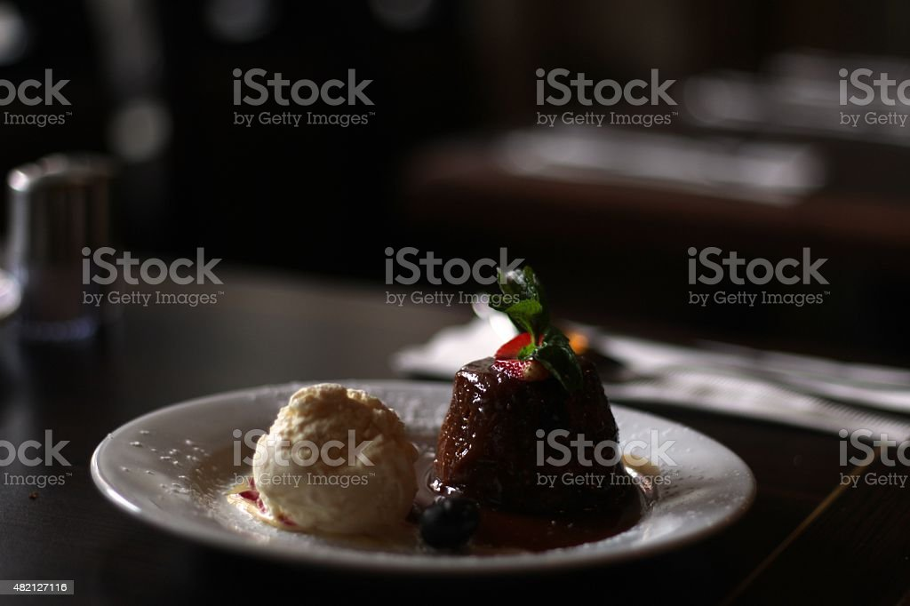 Delicious Christmas Pudding stock photo