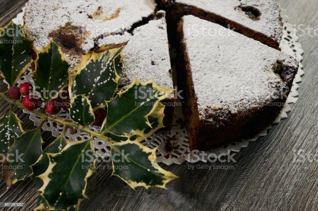 Gâteau de Noël délicieux Stollen - Photo
