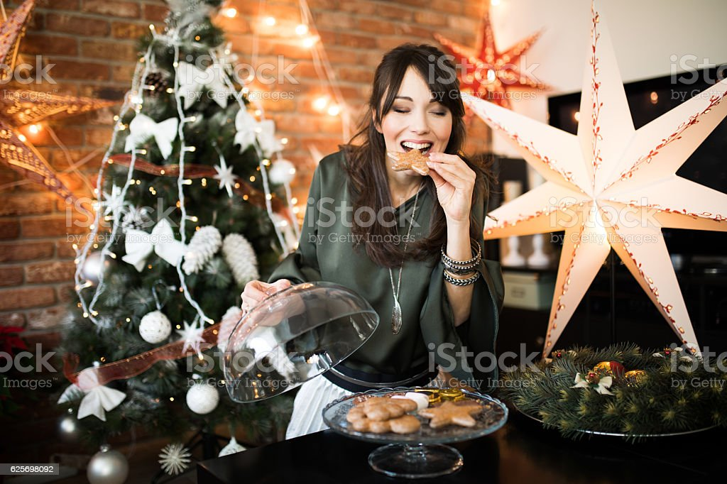 Delicious Christmas sweets - Royalty-free Alleen volwassenen Stockfoto
