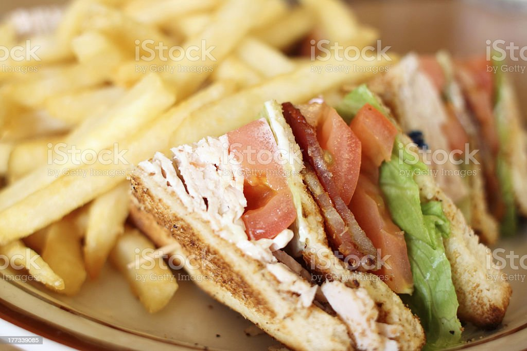 Delicious club sandwich stock photo
