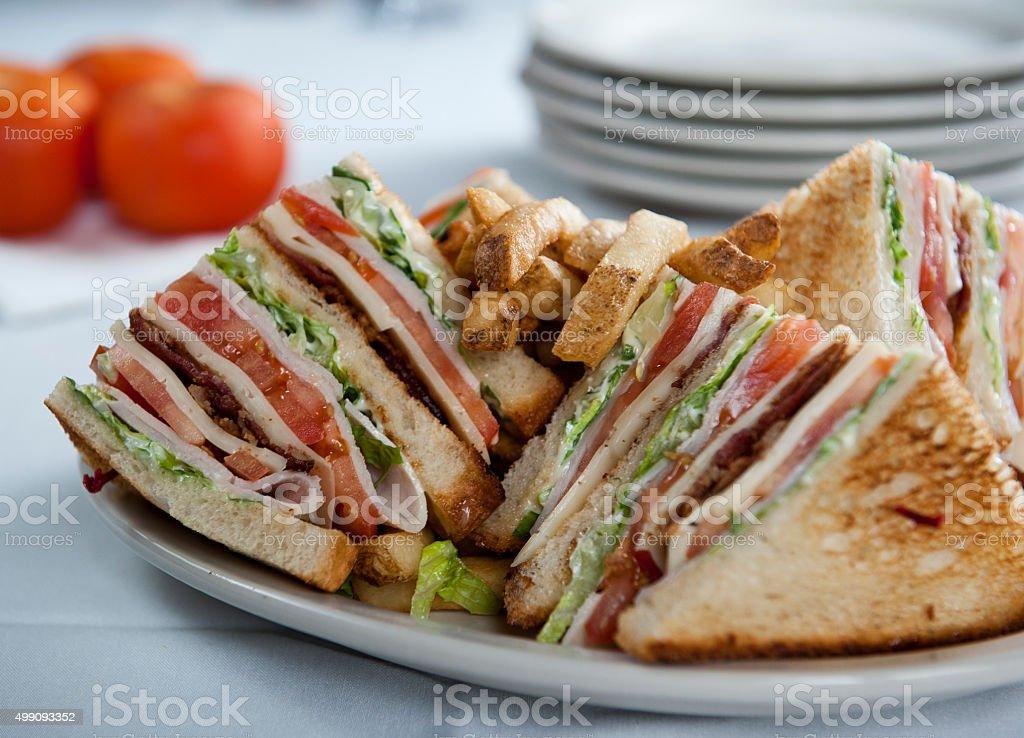 Delicious club sandwich (Click for more) stock photo