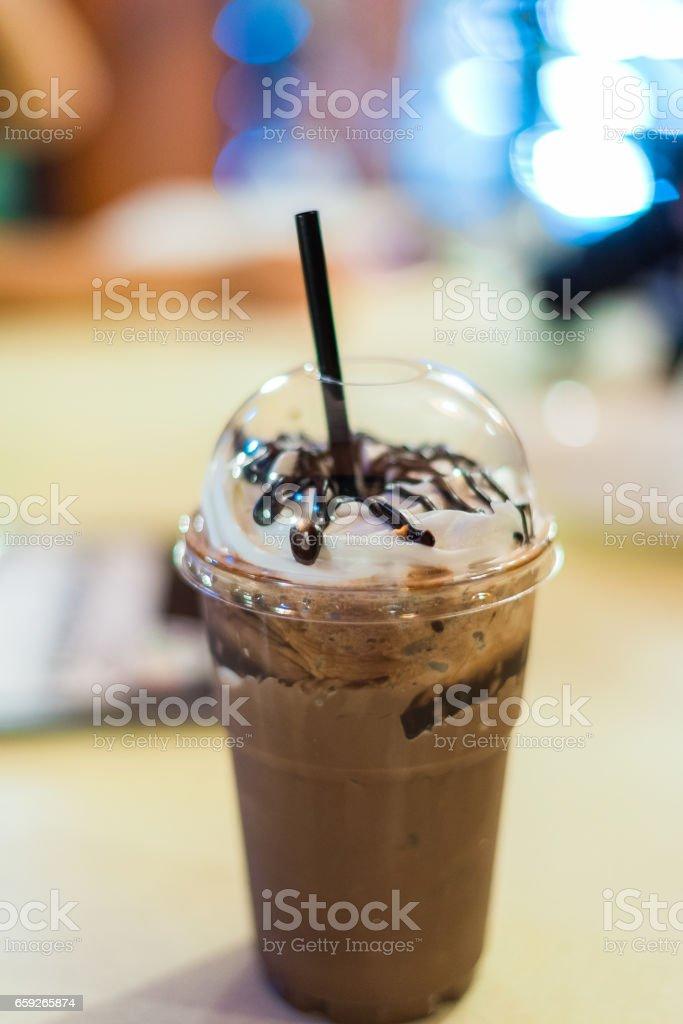 Delicious Cocoa spin stock photo