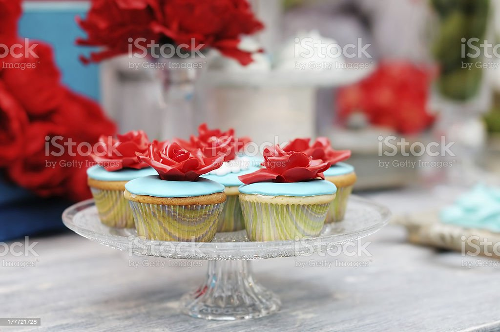 Delicious colorful cupcakes royalty-free stock photo