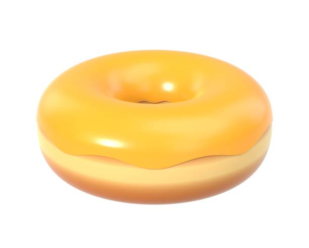 Delicious colorful donut with shiny sweet icing stock photo
