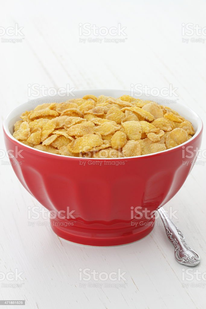 delicious corn flakes breakfast royalty-free stock photo