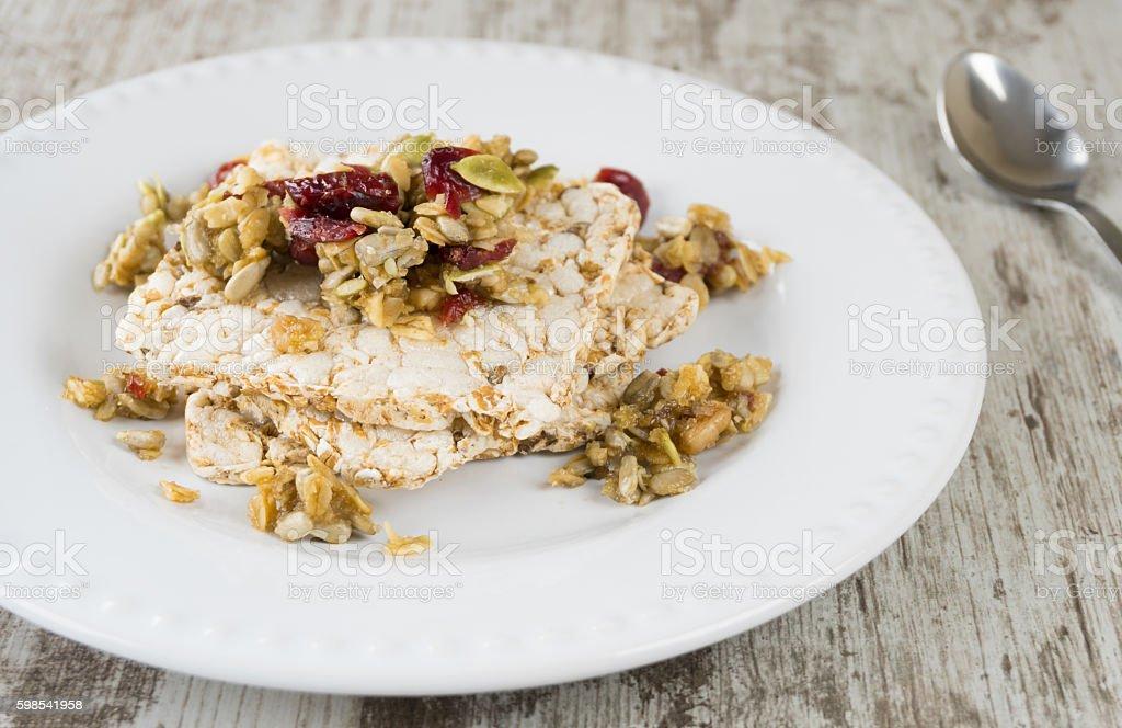 Delicious cranchy homemade snack photo libre de droits