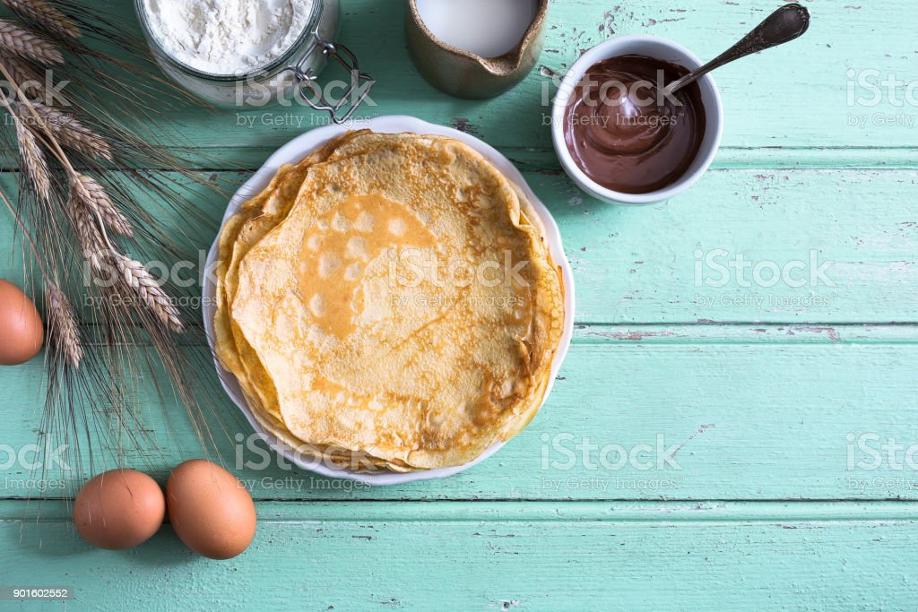 Delicious crepe for Chandeleur party royalty-free stock photo