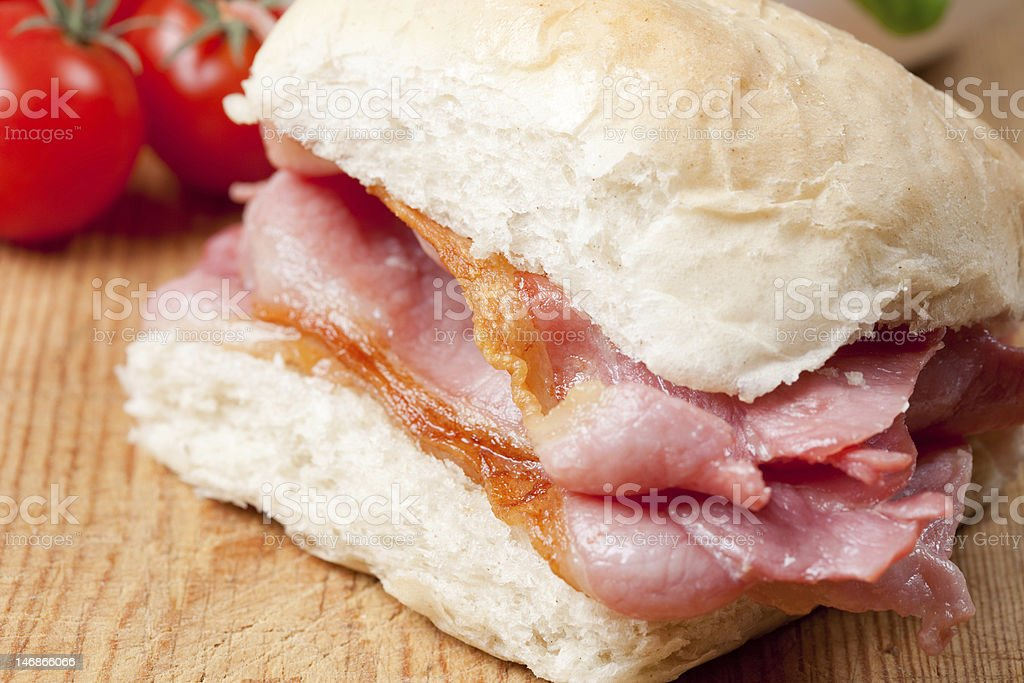 Delicious crispy bacon sandwich stock photo