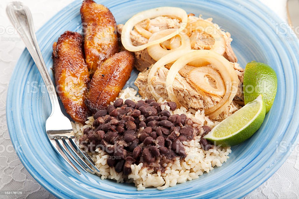 Delicious Cuban Dinner royalty-free stock photo