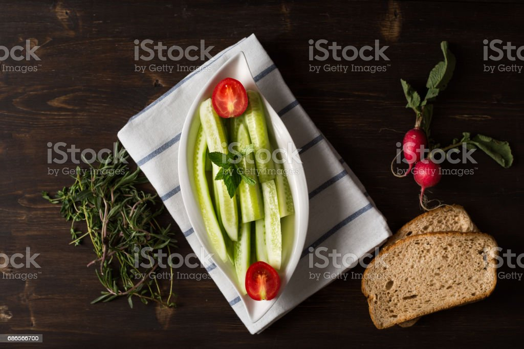 Delicious Cucumber Salad foto stock royalty-free