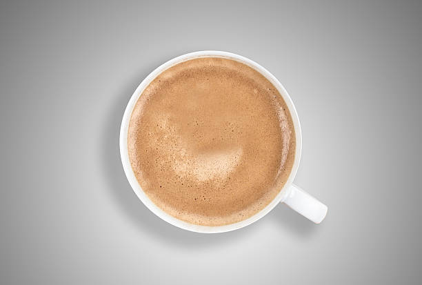 Delicious Cup of Coffee from Above stock photo
