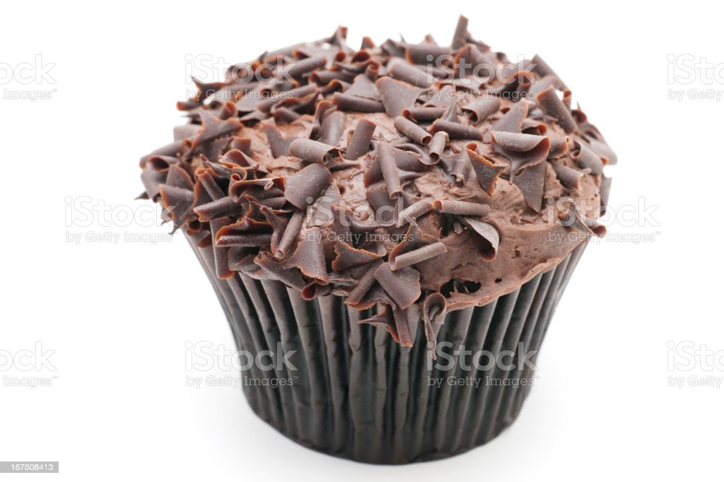 A delicious dessert of a chocolate cupcake muffin royalty-free stock photo