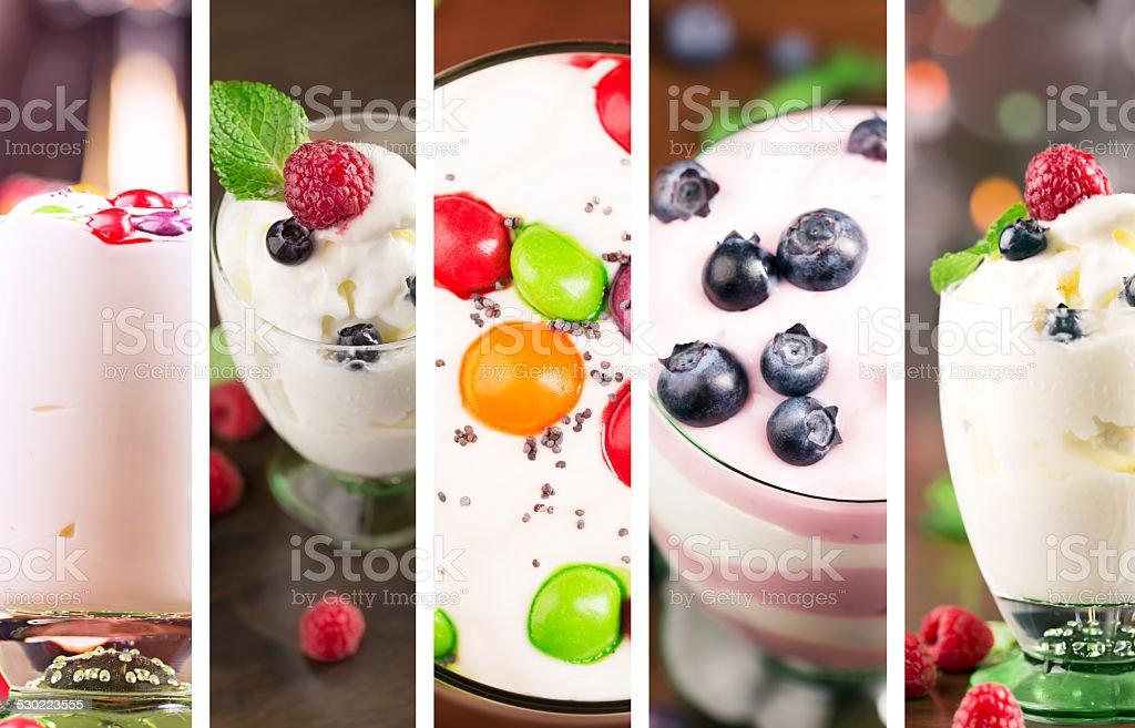 Delicious desserts stock photo