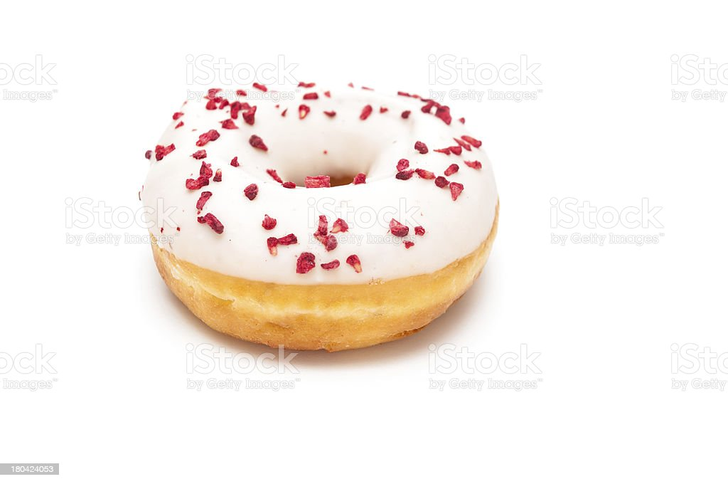 Delicious Donut Isolated on White Background stock photo