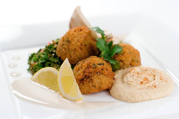 Delicious Falafel stock photo