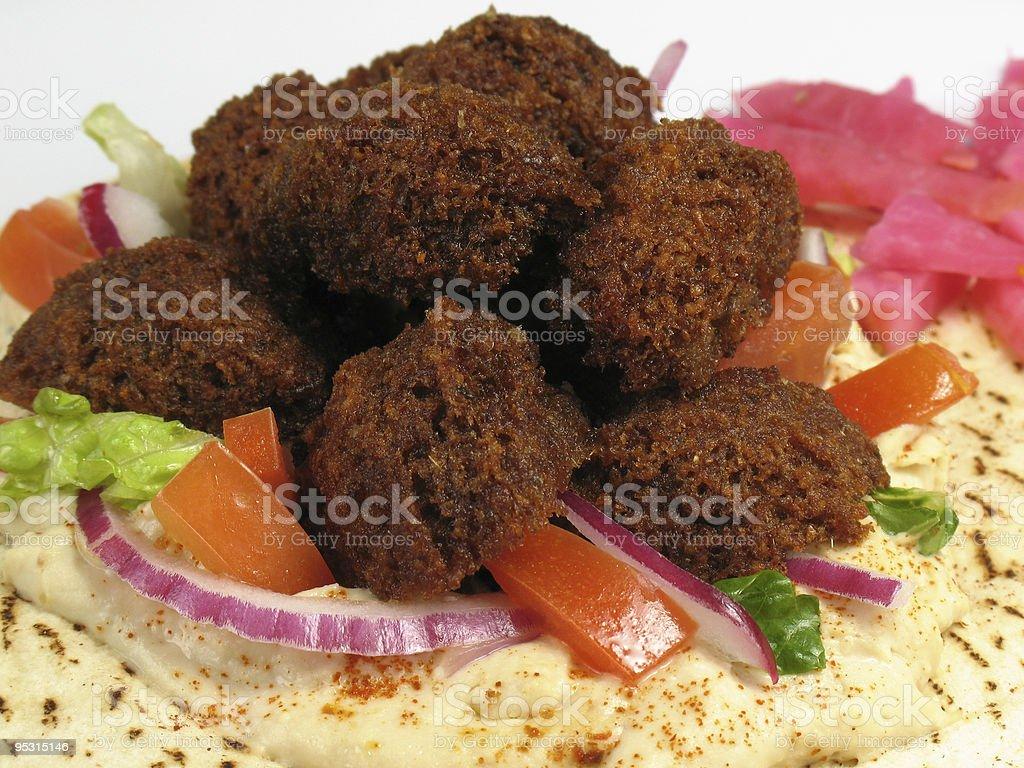 Delicious Falafels and Pita Bread stock photo