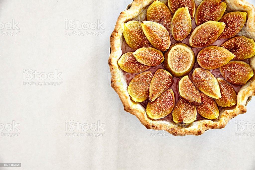 Delicious Fig Pie stock photo