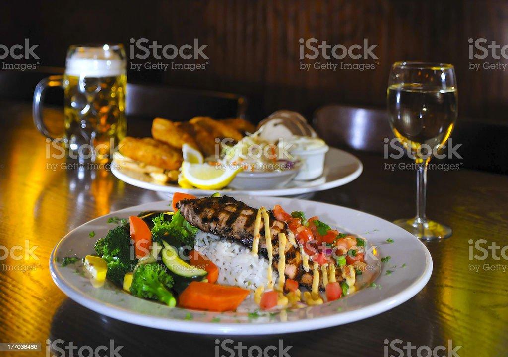 Delicious fish dish royalty-free stock photo