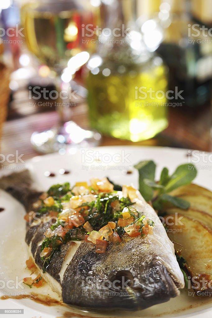 Pyszne danie rybne zbiór zdjęć royalty-free