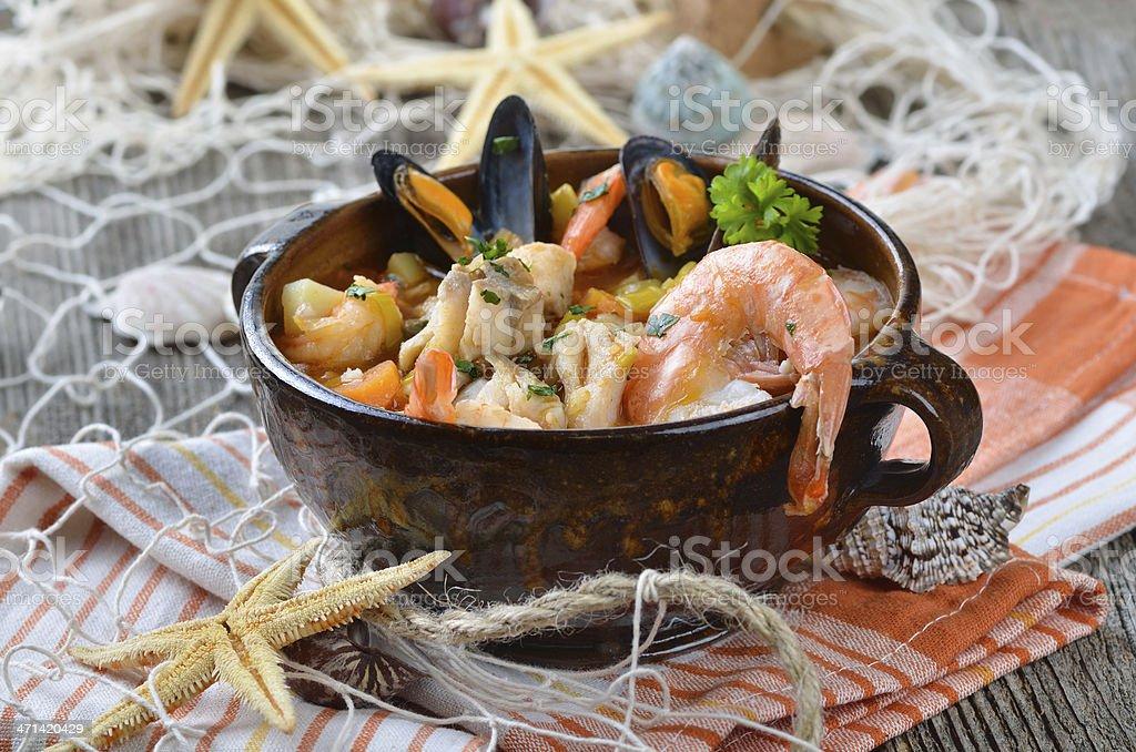 Deliciosos sopa de pescado foto de stock libre de derechos