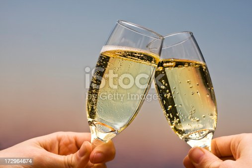 Celebrate with good champagne. Cheers!